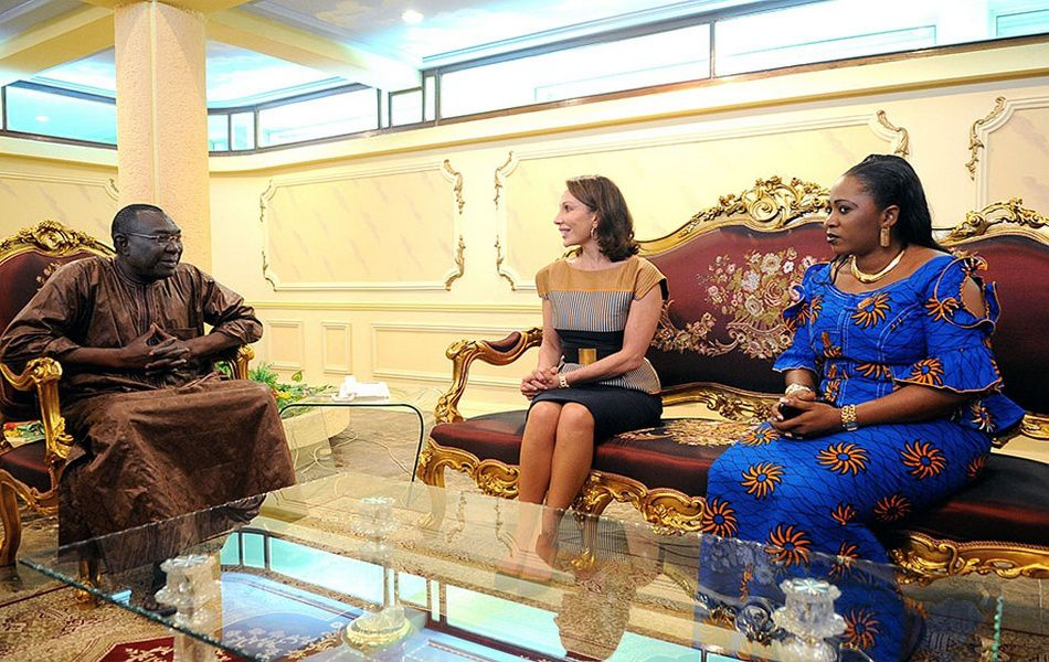 Avec le Président Centrafricain Michel Djotodia