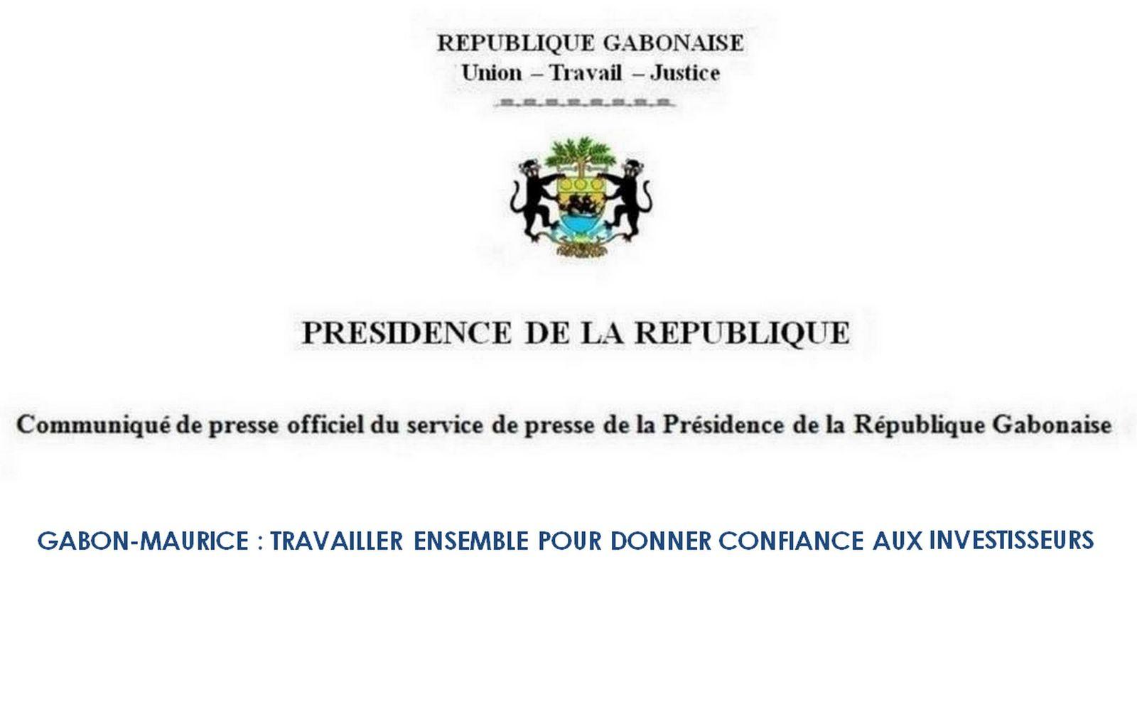 Gabon - Maurice : Travailler ensemble pour donner confiance aux investisseurs