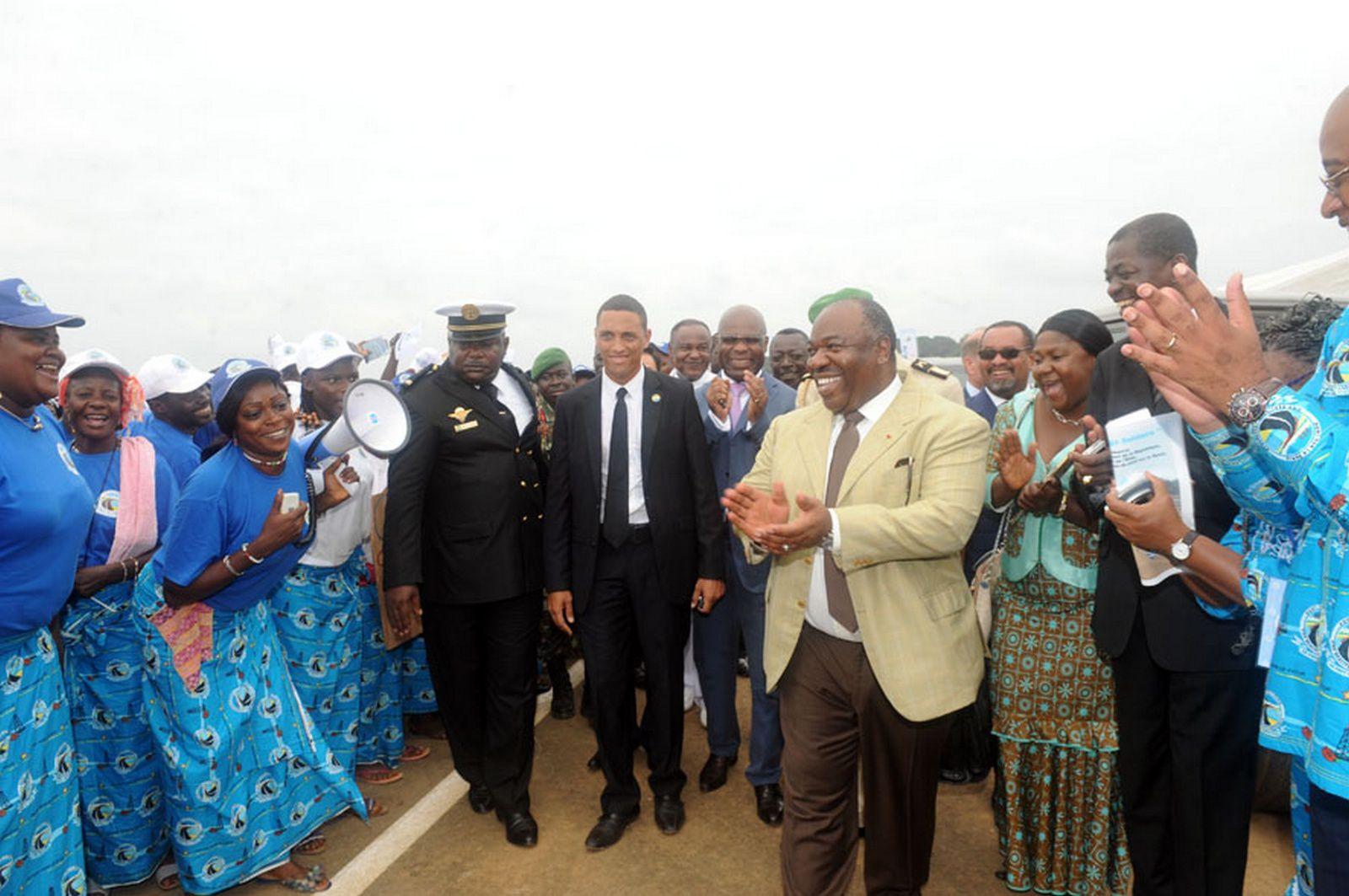 Ali Bongo Ondimba dans la province de la Nyanga