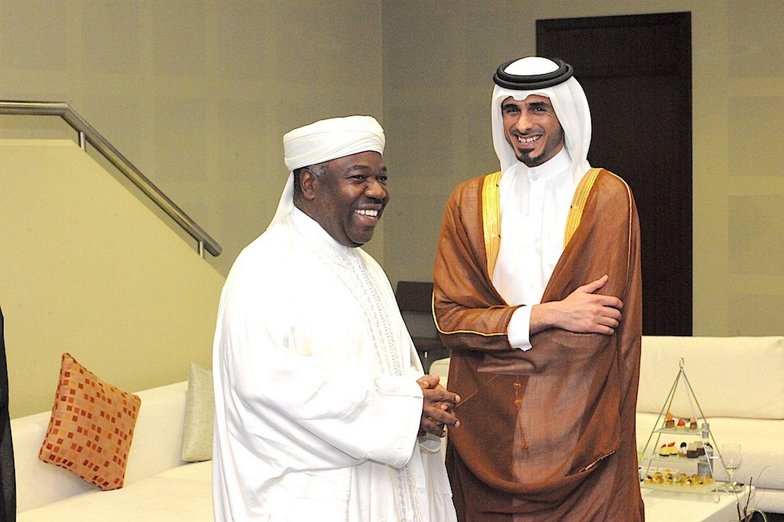 Le Président de la République en discussion avec le premier ministre qatari Abdallah ben Nasser ben Khalifa Al Thani