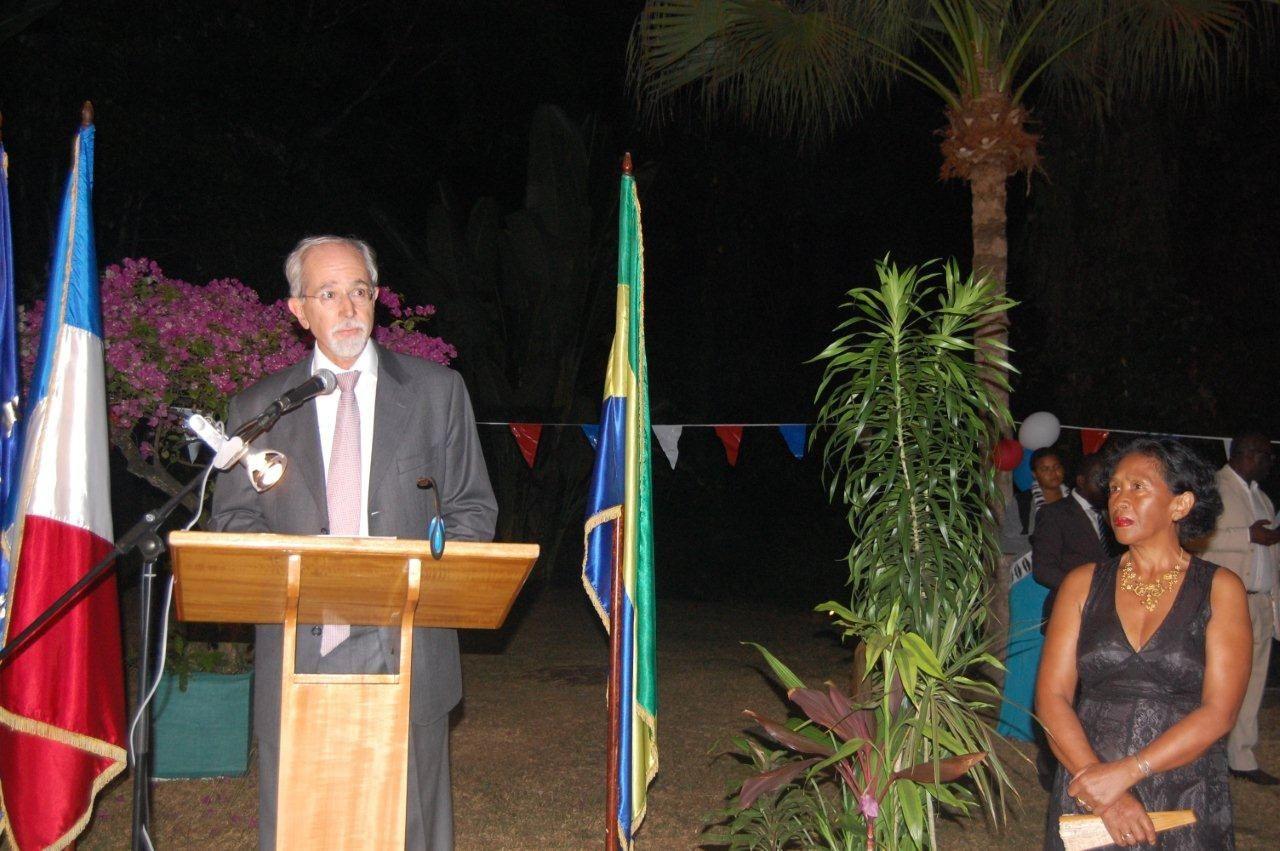 14 JUILLET 2015 : Allocution de Dominique RENAUX, Ambassadeur, Haut Représentant de la République française au Gabon