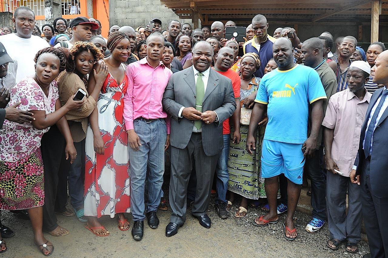 Visite inopinée d'Ali Bongo Ondimba sur les chantiers de voiries de Libreville