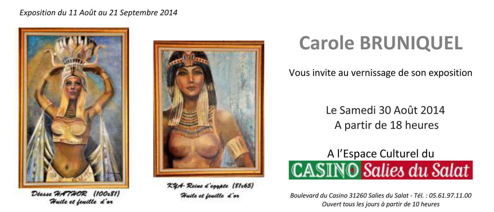 Carole BRUNIQUEL expose à Salies du Salat