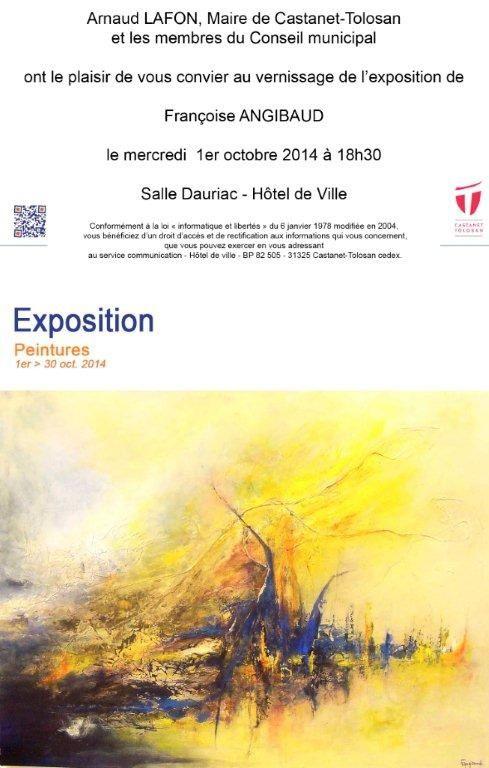 Françoise ANGIBAUD expose à Castanet-Tolosan