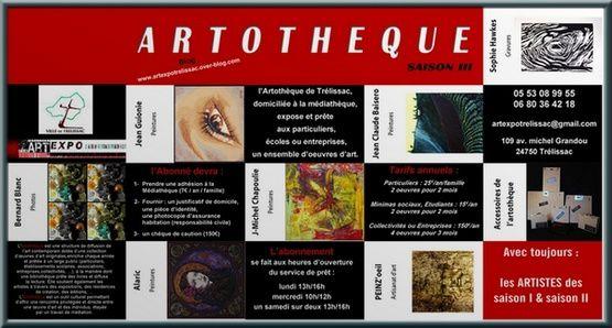 Mardi 16 septembre 2014 : l'Artothèque se dévoile Saison III