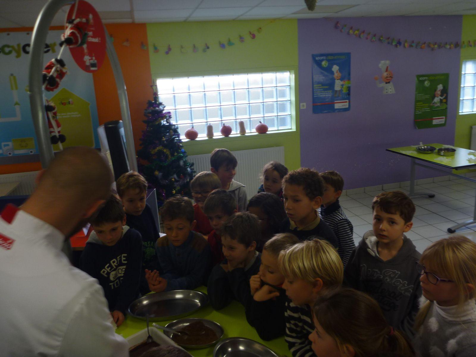 Les petits chefs et le chocolat