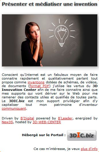 Comment pr senter et m diatiser une invention par le digital 3d web cente - Comment commercialiser une invention ...