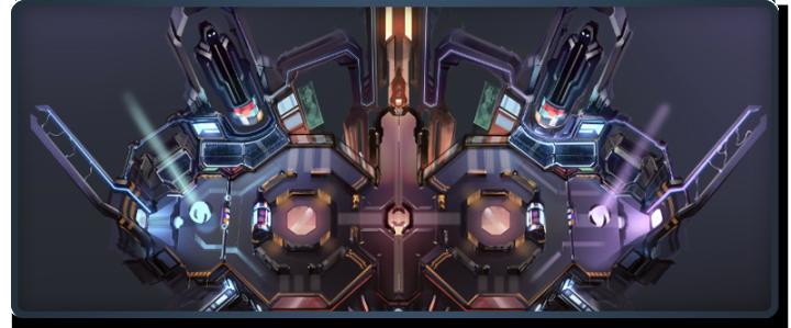 La carte de Games Of Glory (la plateforme de téléportation n'est pas représentée dessus)