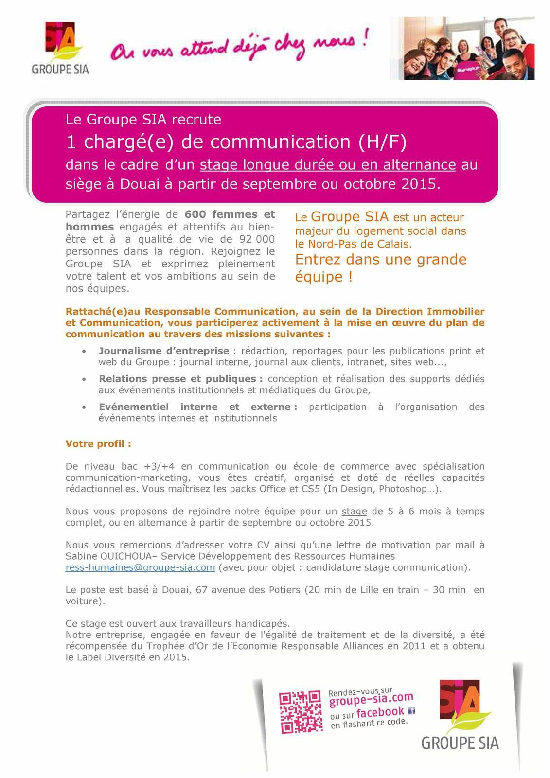 STAGE CHARGE(E) DE COMMUNICATION