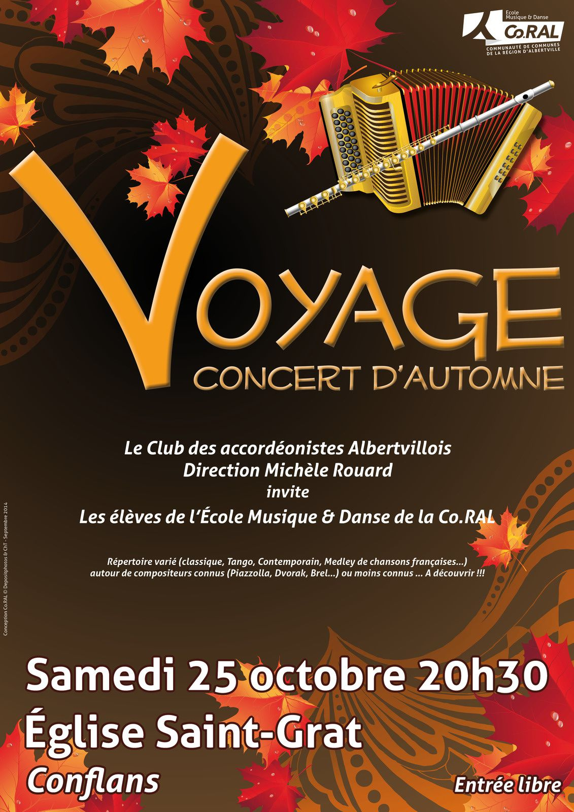 Concert le 25 octobre