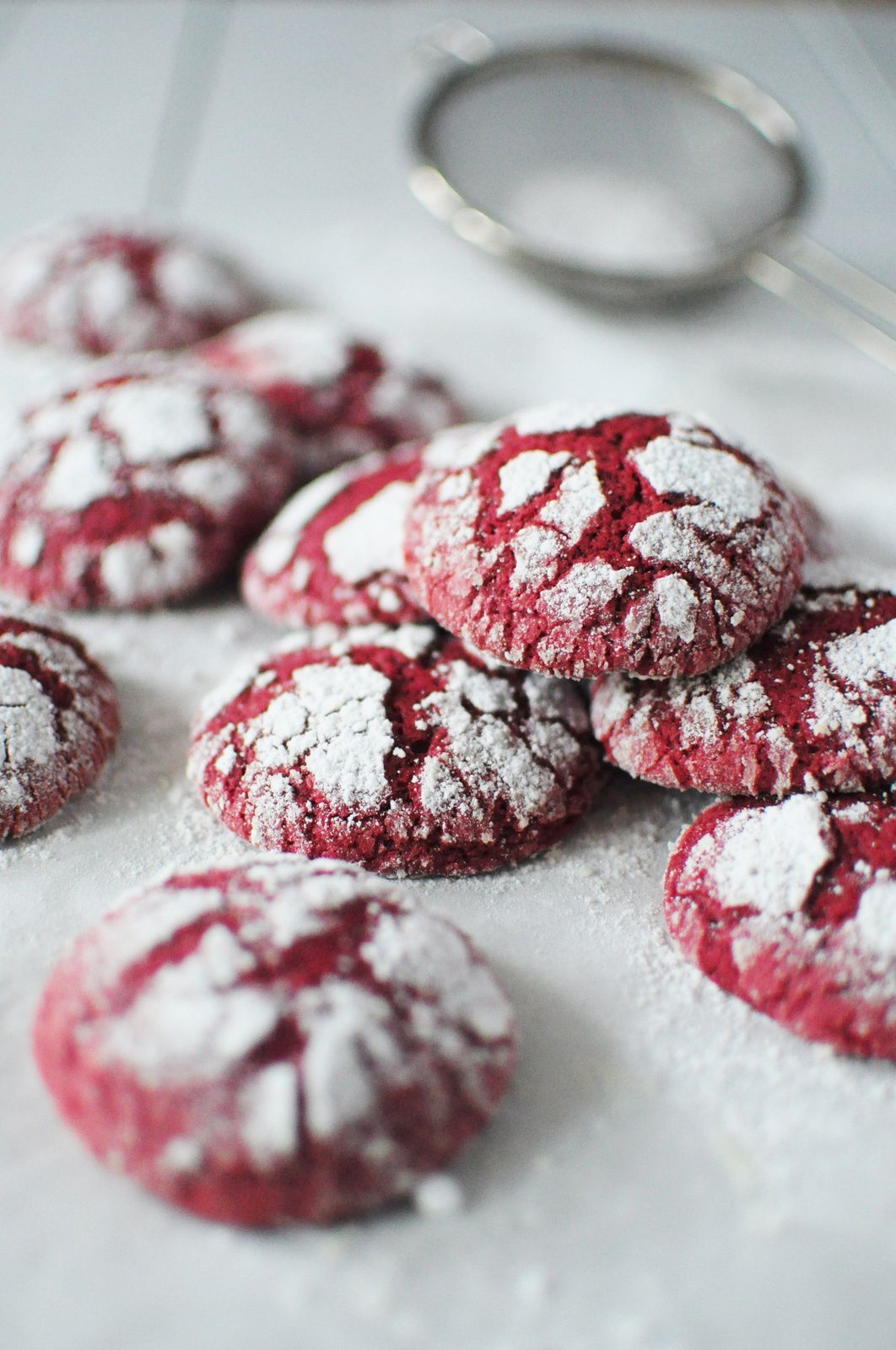 Red Velvet Crinkle Cookies Recipes — Dishmaps