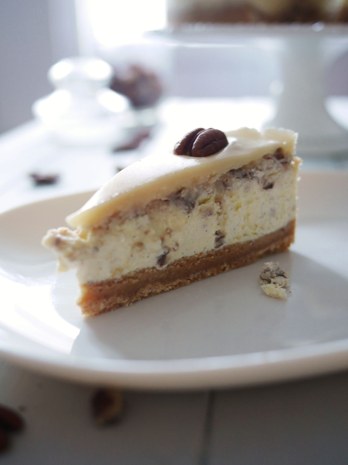 Butterscotch pecan cheesecake
