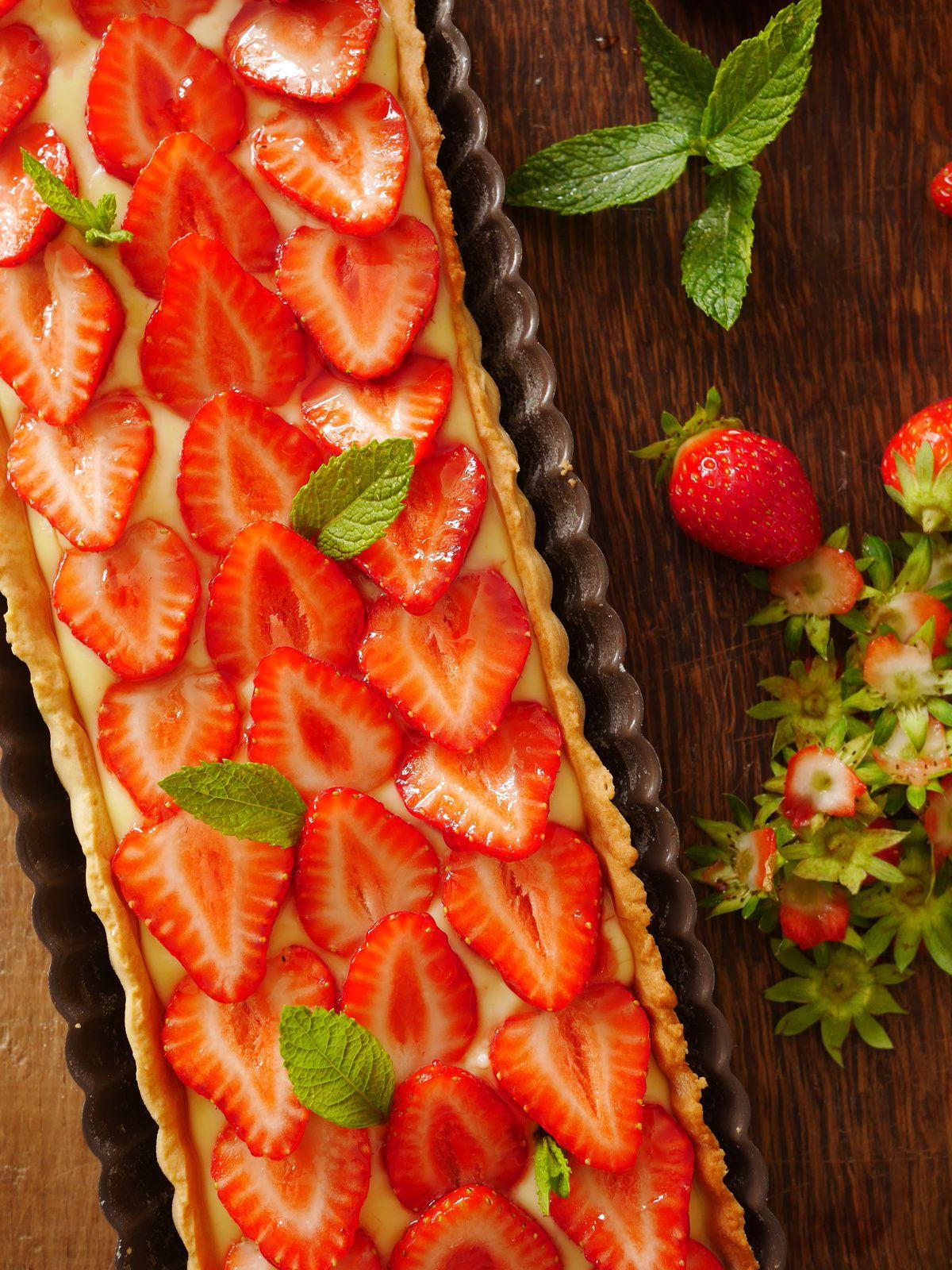 Tarte aux fraises cook processor kitchenaid