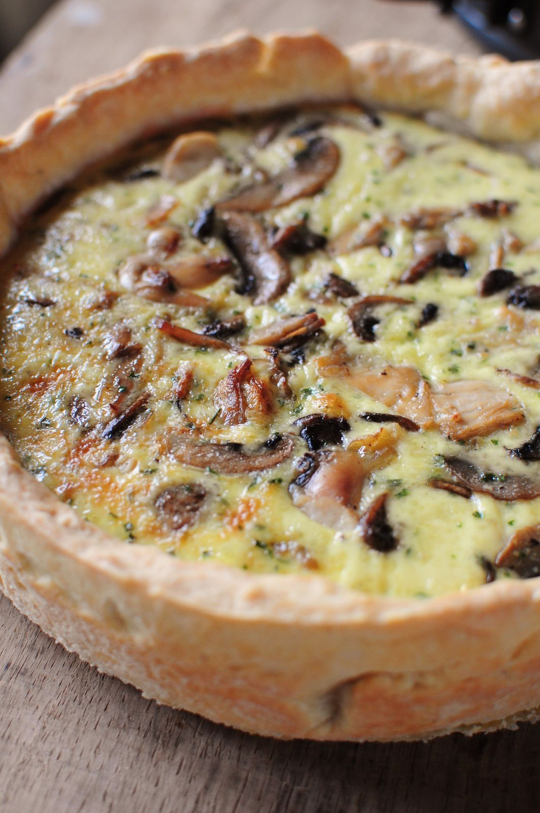 quiche champignons poulet blog de cuisine cr ative recettes popotte de manue. Black Bedroom Furniture Sets. Home Design Ideas