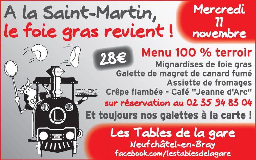 A la Saint Martin, le Foie Gras revient !!