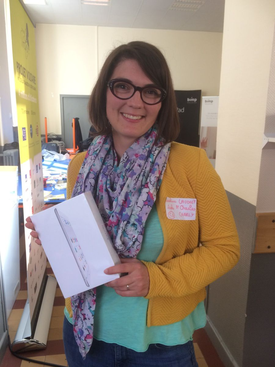 Grande gagnante de la JDN : Caroline Lauchet de l'école Saint Charles!