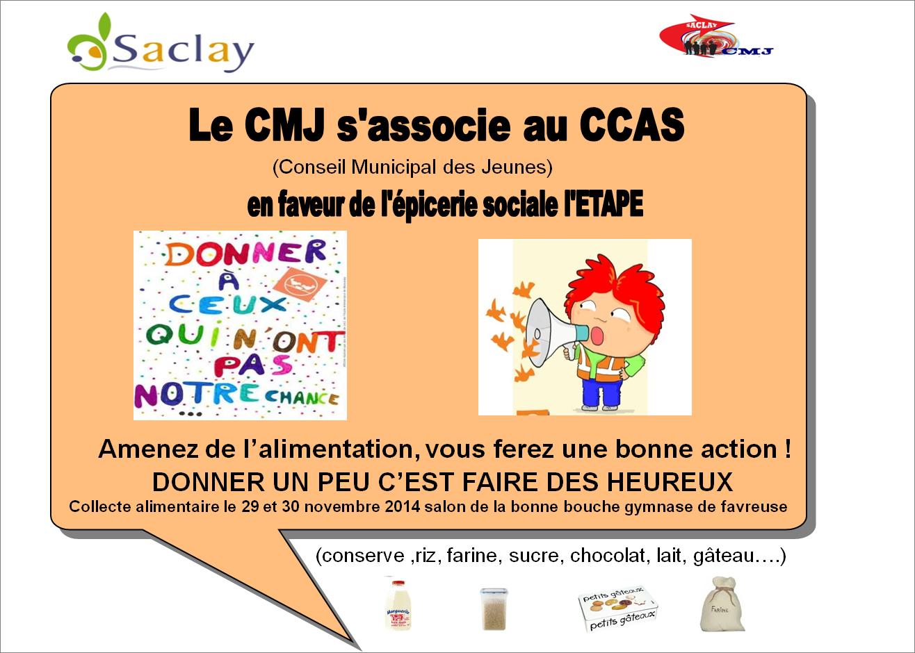 Le CMJ s'associe au CCAS en faveur de l'épicerie sociale l'ETAPE