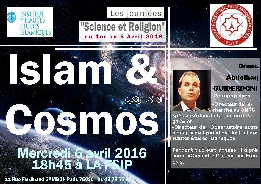 Islam &amp&#x3B; Cosmos الإسلام والكون Mercredi 6/4.19h Bruno Abdelhaq GUIDERDONI