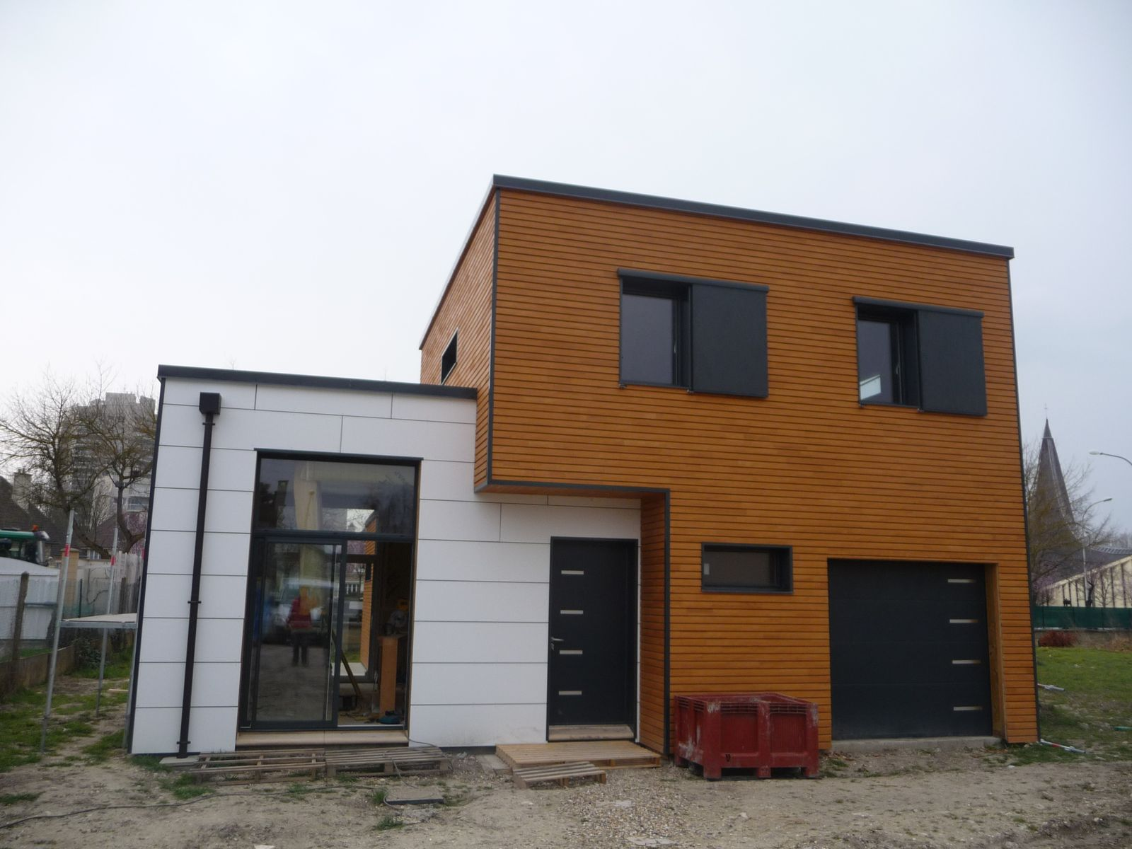 R alisation des maisons contemporaine bouny for Realisation maison