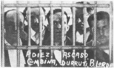 Photo prise dans la prison de Puerto de Santa Maria (1933)