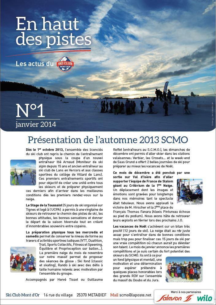 Newsletter SCMO N°1