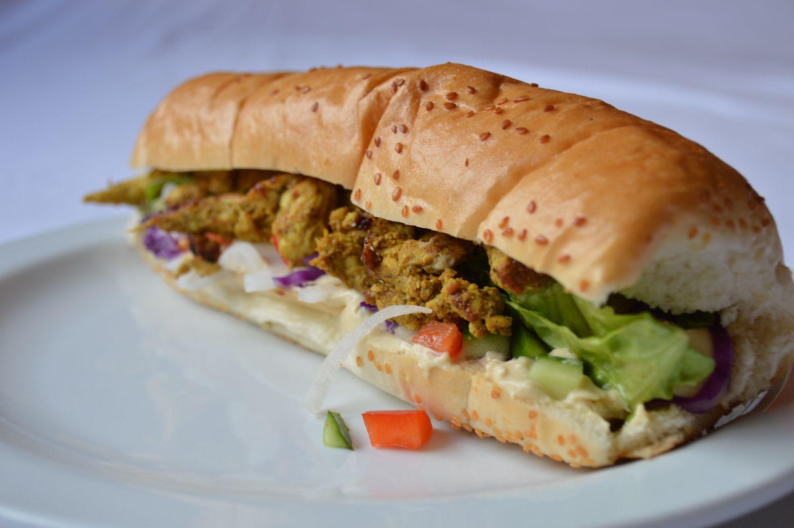 Sandwich chawarma de poulet