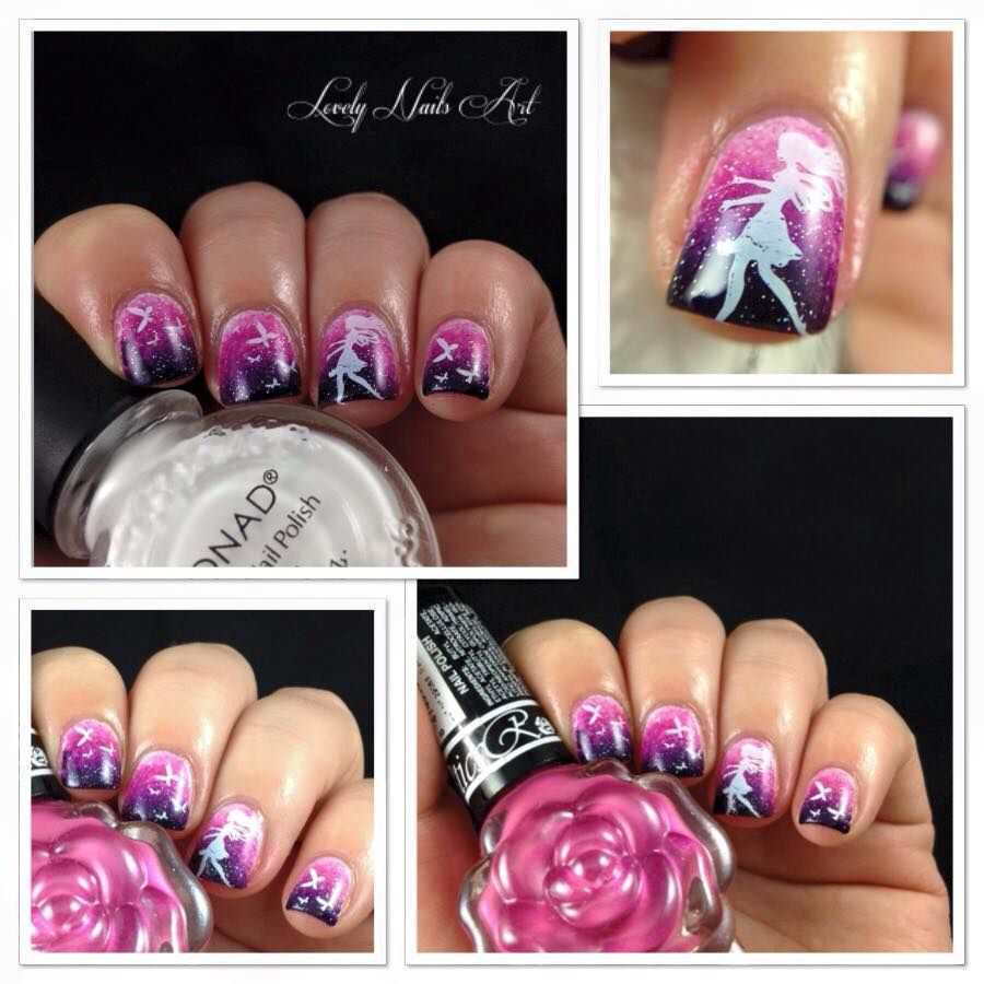 Nail art stamping *fée et papillons*