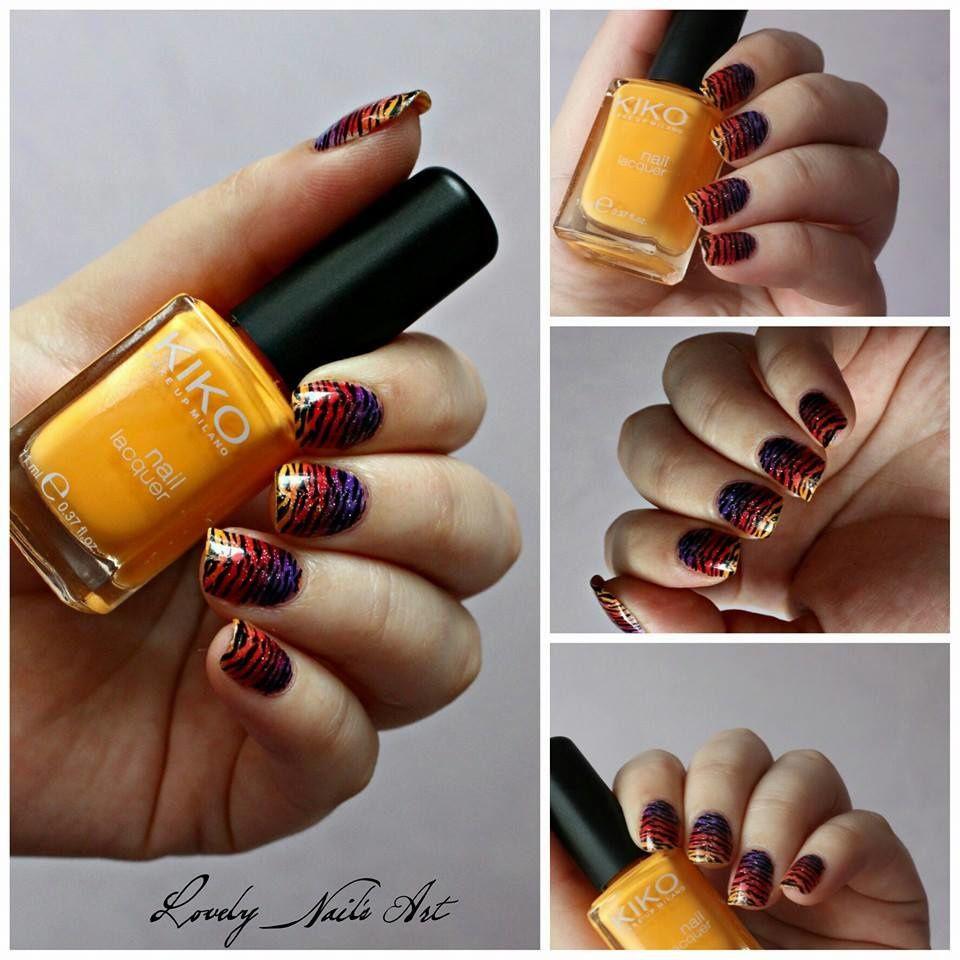 Nail art stamping savane