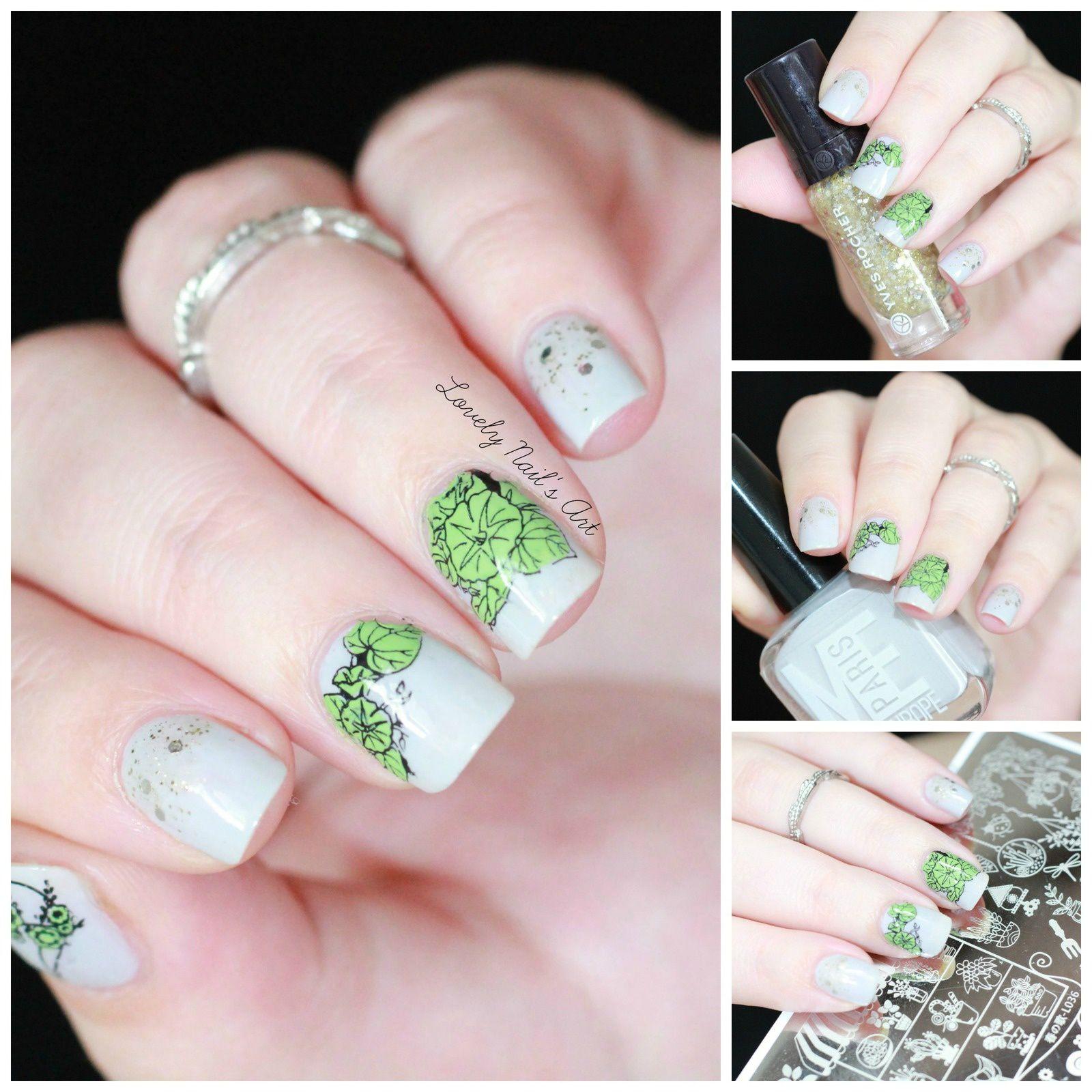 Nail art stamping plantes