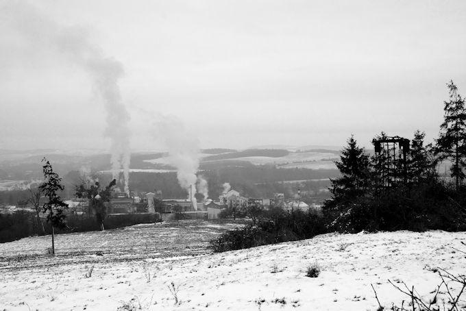 Paysage d'hiver en Lorraine