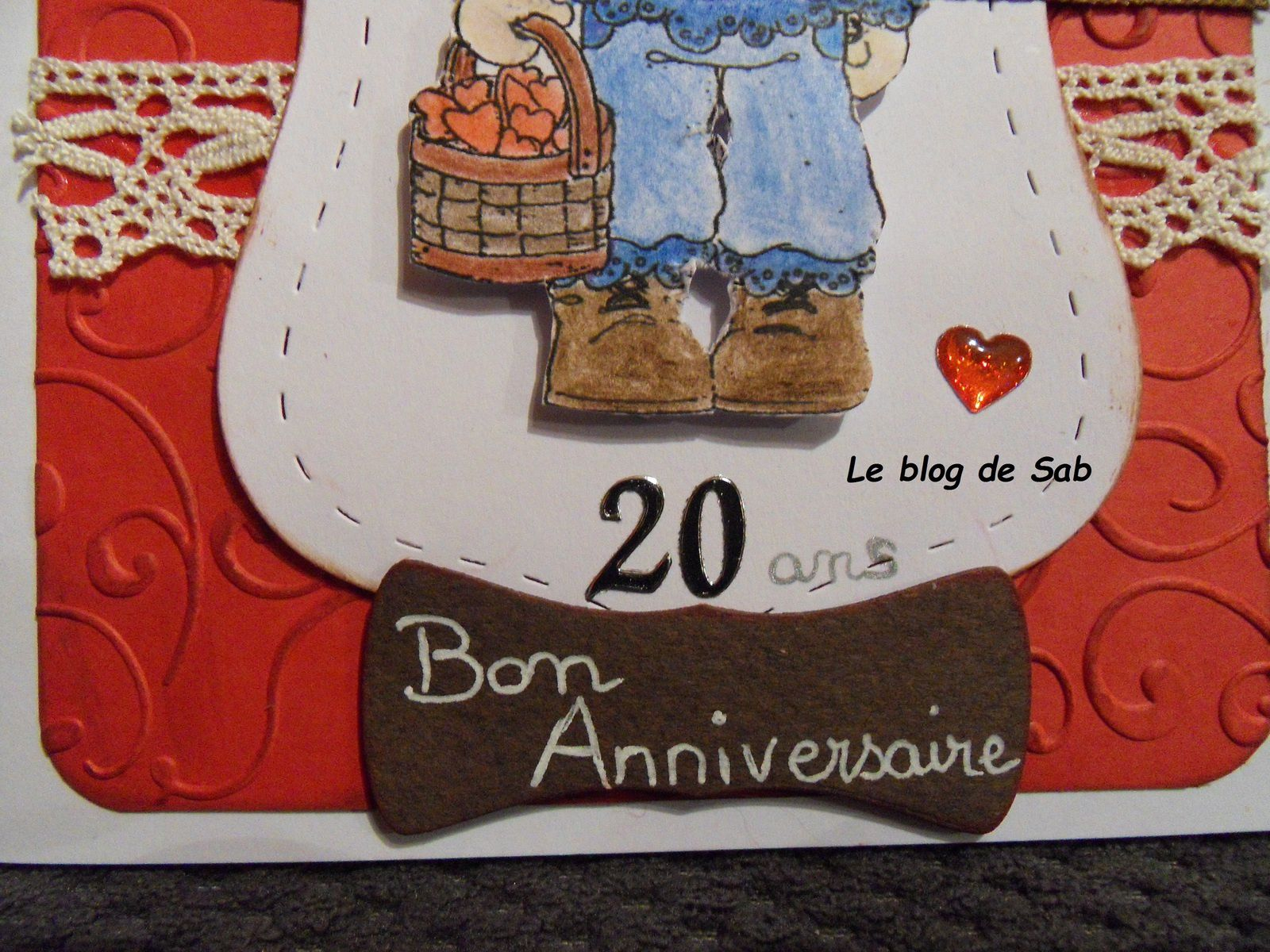 carte anniversaire 20 ans fille le blog de sab. Black Bedroom Furniture Sets. Home Design Ideas