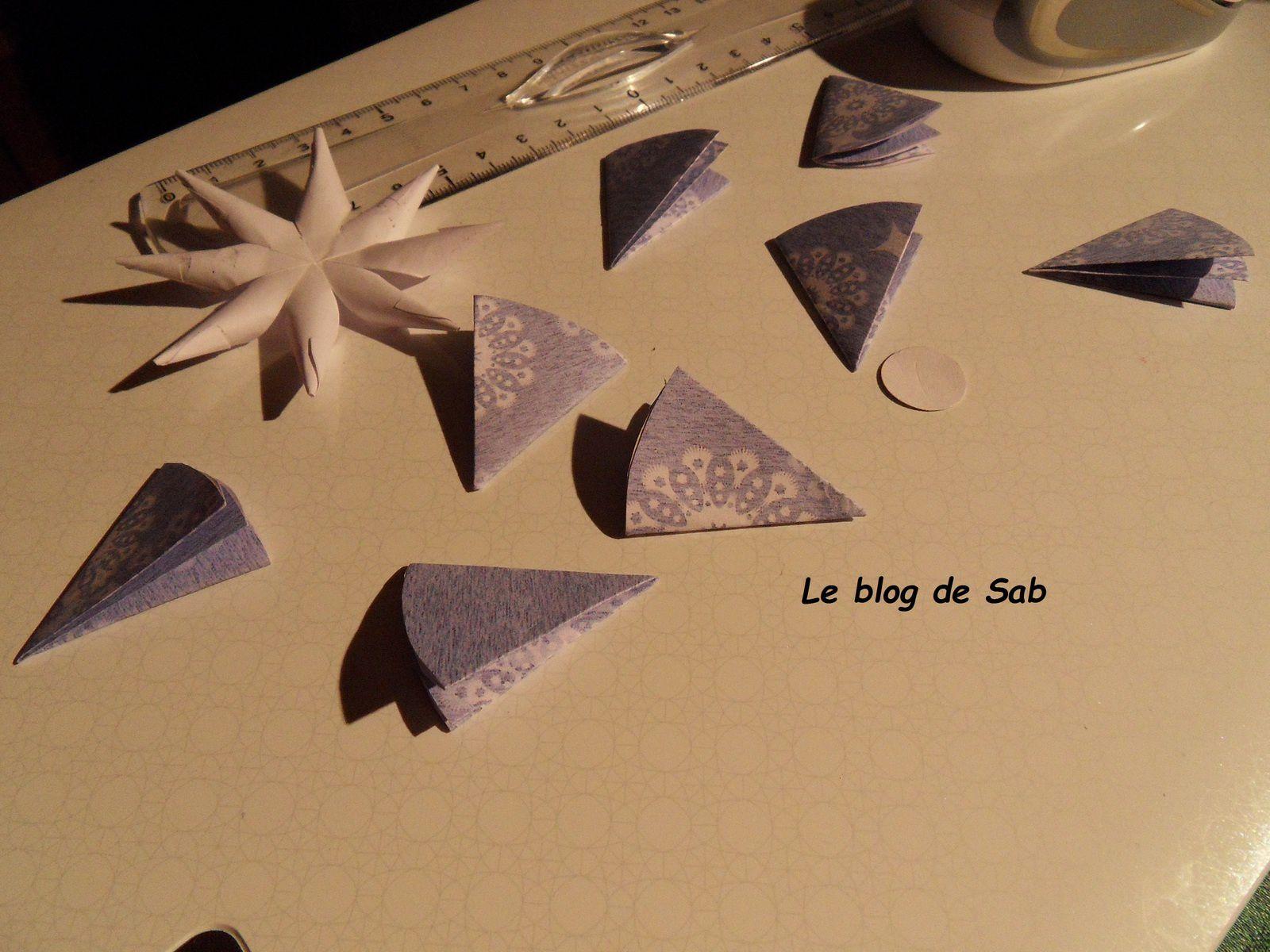 Boule de no l en papier le blog de sab - Boule de noel en anglais ...