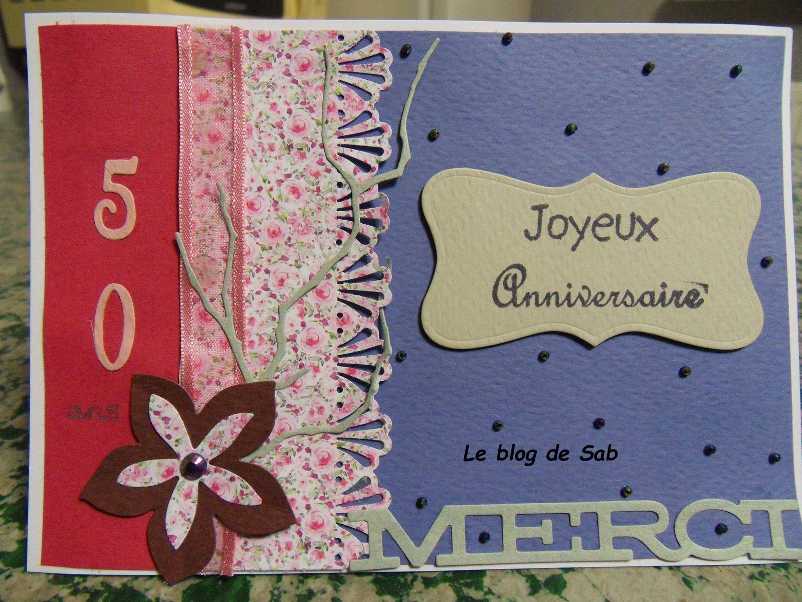 Carte Anniversaire Femme 50 Ans Le Blog De Sab