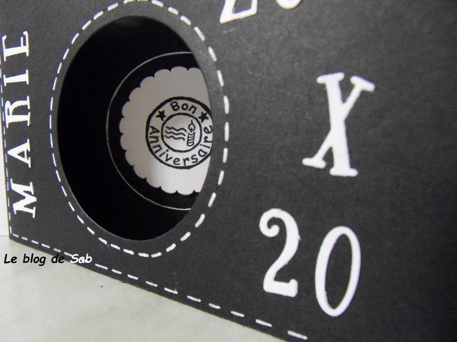 Carte anniversaire femme 20 ans &quot&#x3B;photographe&quot&#x3B;