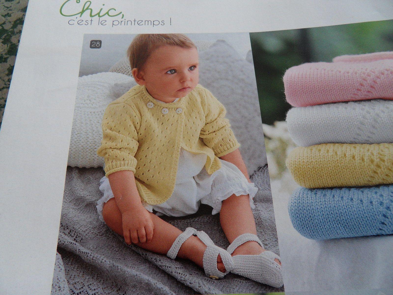 Tricot : gilet fille 6 mois