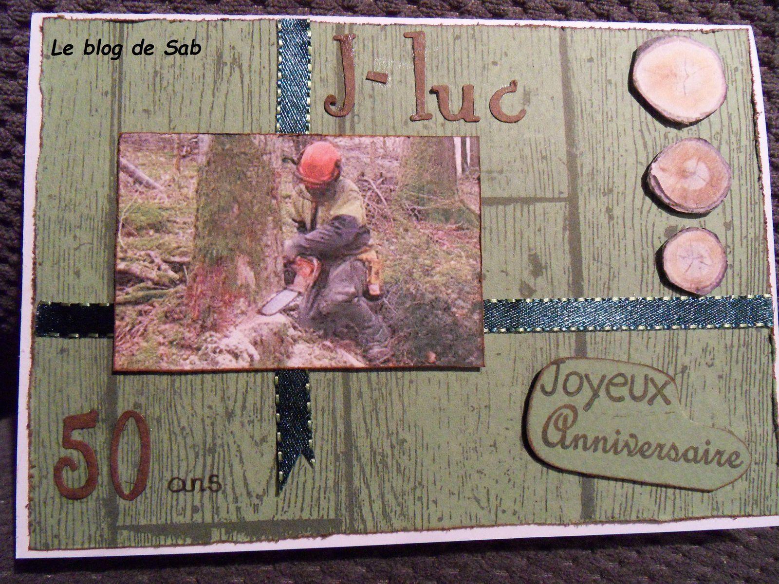 Carte anniversaire bucheron