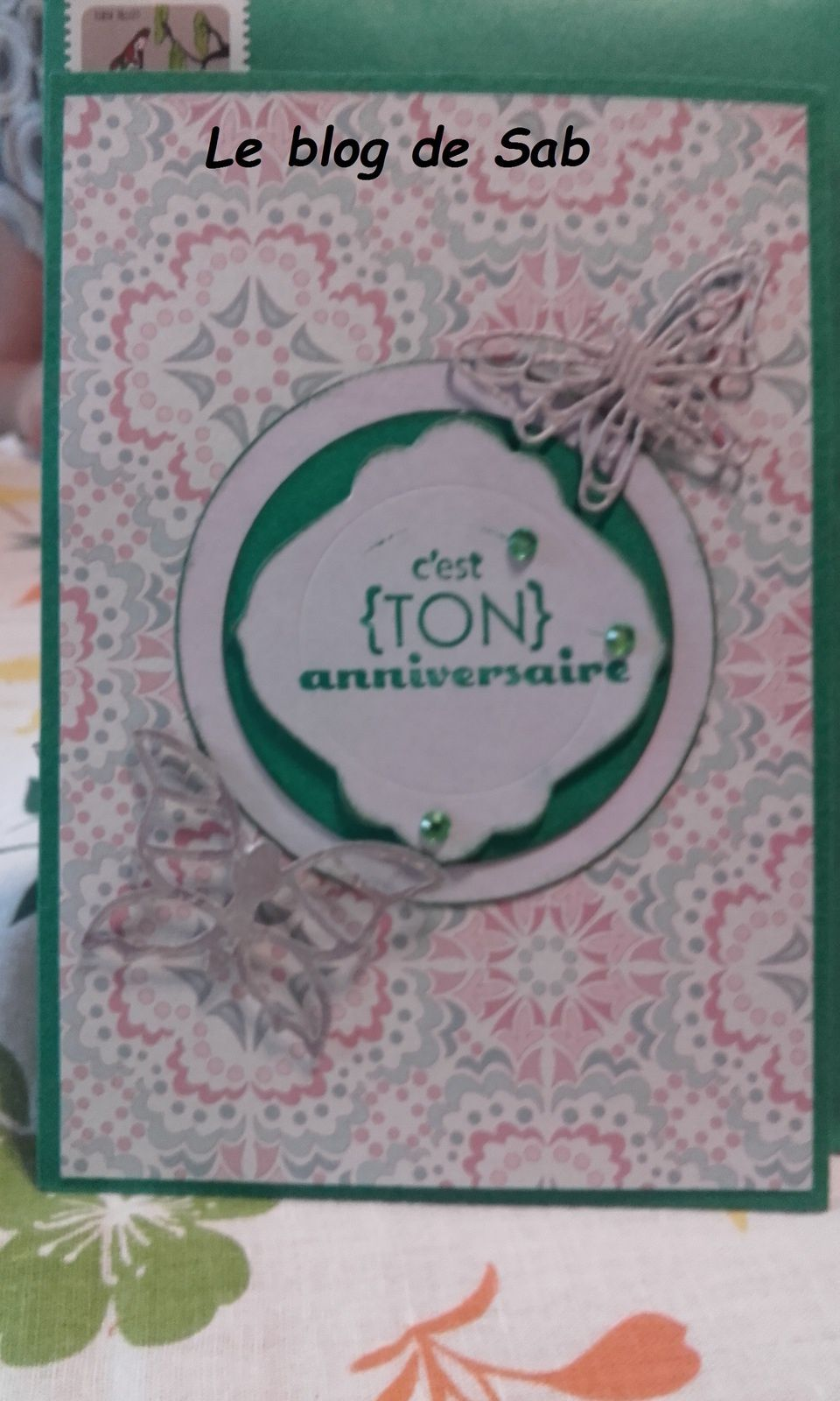 Carte anniversaire pop up