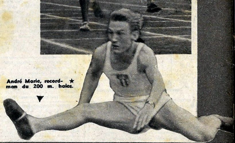 André-Jacques Marie, champion d'Europe du 110 mètres haies 1950