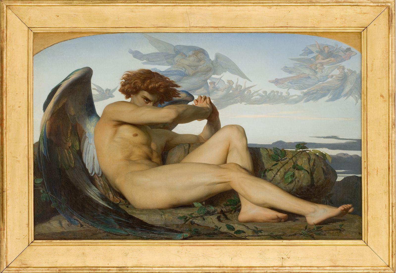 CABANEL Alexandre ( Montpellier, 1823 - Paris, 1889 )  L'Ange déchu  1847  Huile sur toile  H. 1,210 &#x3B; L. 1,897  Don Barthélémy Cabanel, frère de l'artiste, 1889 (photographie Frédéric Jaulmes)