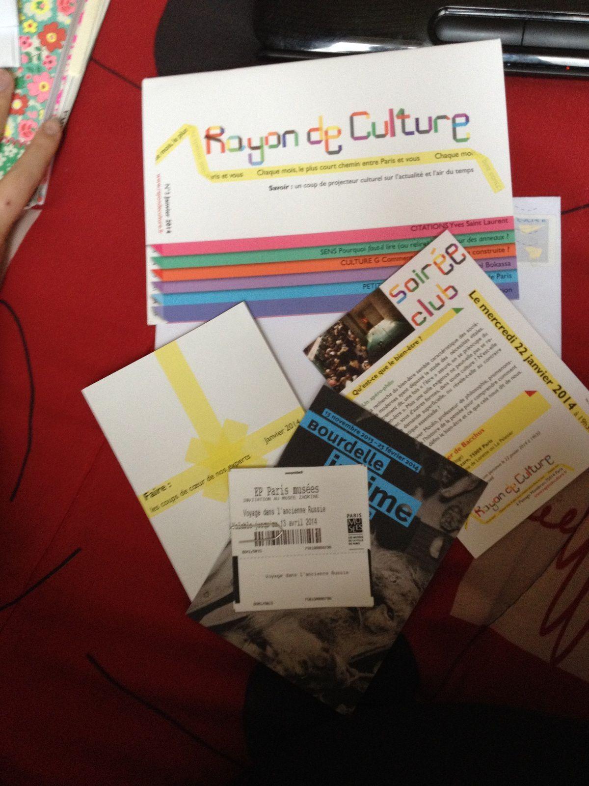 Rayon de Culture: La Box !