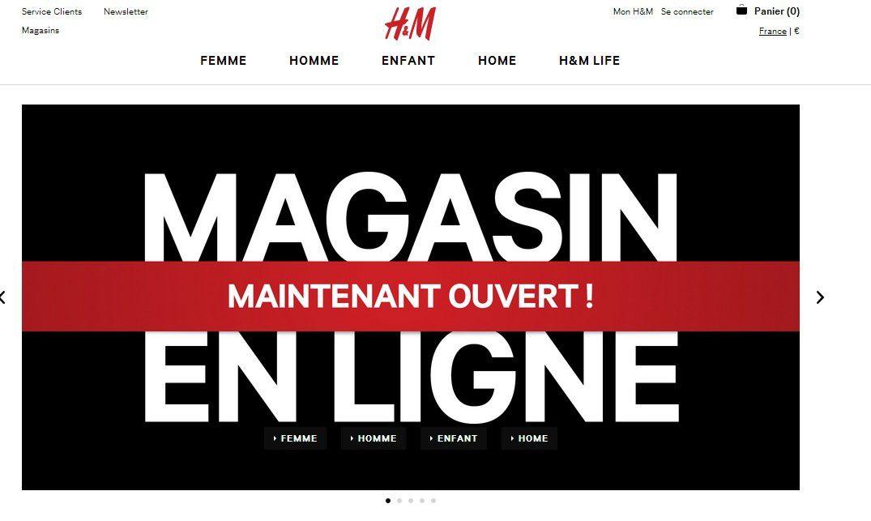 Le E-Shop de H&amp&#x3B;M est Ouvert