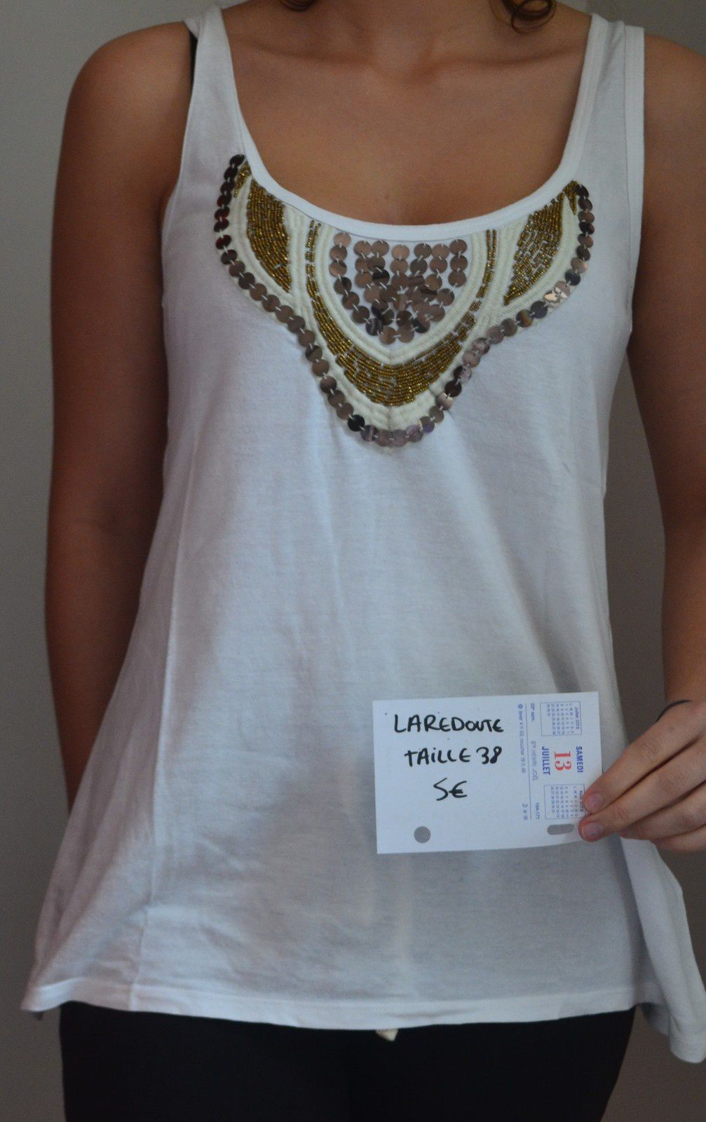 T-shirt Laredoute Taille 38/40 5€