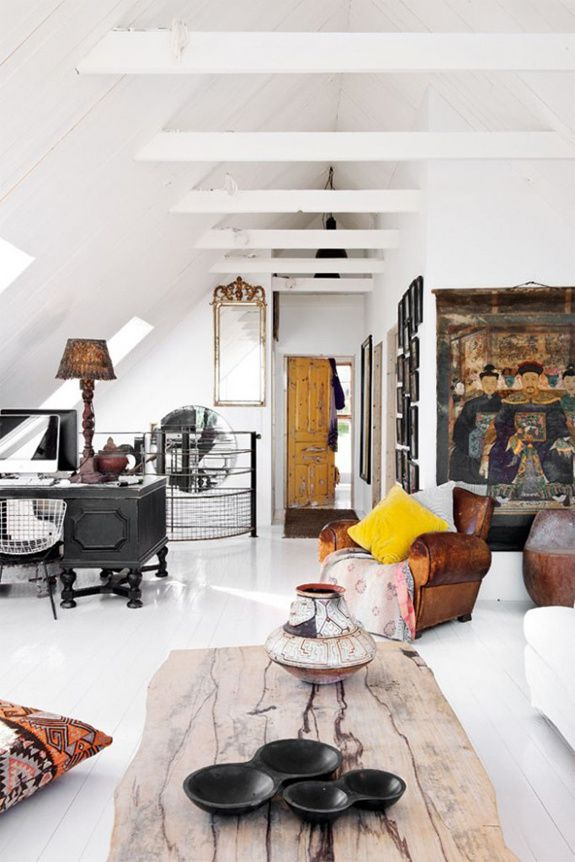 Une maison éclectique en Suède
