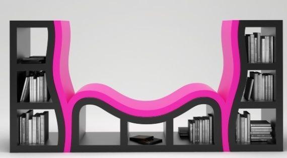 Fauteuil bibliothèque d'esprit baroque - Console Bookshelve de de Stanislav Katz