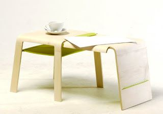 "La ""changeable chair"" de Wing Fung Ng, à la fois chaise, tabouret, table basse et rangement d'appoint."