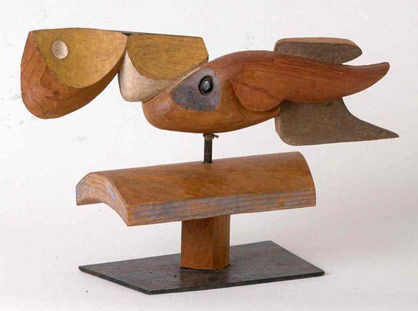 Eau, ciel, terre, 1954 Bois polychrome
