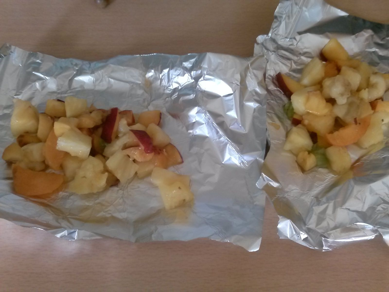 papillote de fruits au barbecue