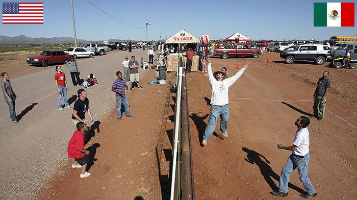 Volley Ball over the American/Mexican border