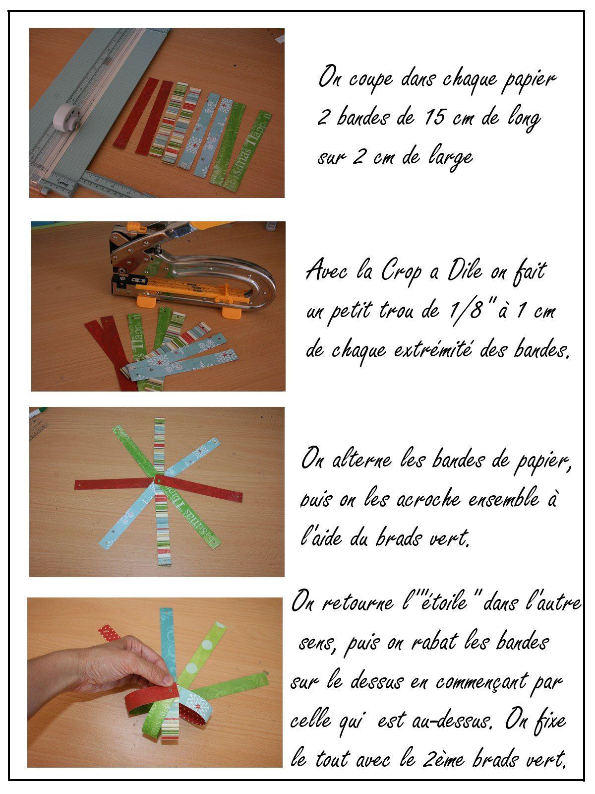Tutoriel : réaliser une boule de Noël avec des bandes de papier
