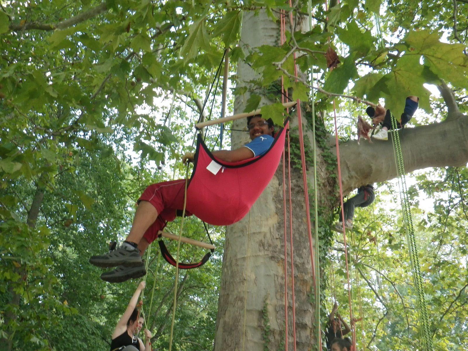 jérémy in the tree et éric médaillé olympique